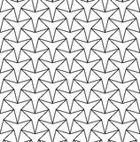 Vector modern seamless geometry pattern star, black and white abstract Royalty Free Stock Images
