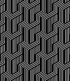 Vector modern seamless geometry pattern stripes, black and white abstract Royalty Free Stock Photos