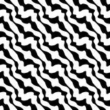 Vector modern seamless geometry pattern stripes, black and white abstract Royalty Free Stock Images