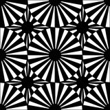 Vector modern seamless geometry pattern target, black and white abstract Royalty Free Stock Photography