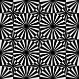 Vector modern seamless geometry pattern target, black and white abstract Stock Images