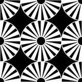 Vector modern seamless geometry pattern target, black and white abstract Royalty Free Stock Image