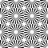 Vector modern seamless geometry pattern target, black and white abstract Royalty Free Stock Images