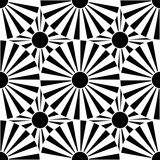 Vector modern seamless geometry pattern target, black and white abstract Royalty Free Stock Photo