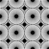 Vector modern seamless geometry pattern target, black and white abstract Stock Photography