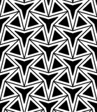 Vector modern seamless geometry pattern three point star, black and white abstract Royalty Free Stock Image