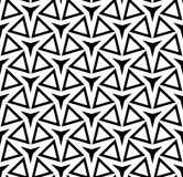 Vector modern seamless geometry pattern three point star, black and white abstract Stock Image