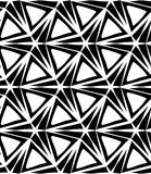 Vector modern seamless geometry pattern three point star, black and white abstract Stock Photo