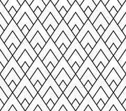Vector modern seamless geometry pattern triangle, black and white abstract Stock Photography
