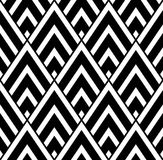 Vector modern seamless geometry pattern triangle, black and white abstract. Geometric background, pillow print, monochrome retro texture, hipster fashion design Royalty Free Stock Photo