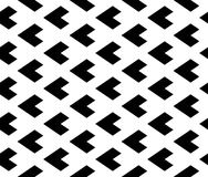 Vector modern seamless geometry pattern triangle, black and white abstract Stock Photo