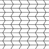 Vector modern seamless geometry pattern trippy, black and white abstract Royalty Free Stock Photography