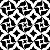 Vector modern seamless geometry pattern trippy, black and white abstract Royalty Free Stock Photo