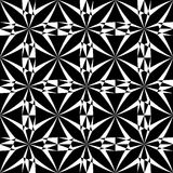Vector modern seamless geometry pattern trippy, black and white abstract Royalty Free Stock Images