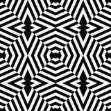 Vector modern seamless geometry pattern trippy, black and white abstract Stock Images
