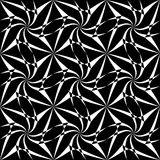 Vector modern seamless geometry pattern trippy, black and white abstract Stock Photos