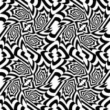 Vector modern seamless geometry pattern trippy, black and white abstract Royalty Free Stock Photos