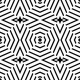 Vector modern seamless geometry pattern trippy, black and white abstract Stock Photography
