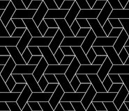Vector modern seamless geometry pattern trippy, black and white abstract Stock Image