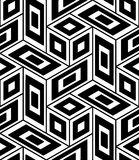 Vector modern seamless geometry pattern trippy, black and white abstract. Geometric background, pillow print, monochrome retro texture, hipster fashion design Royalty Free Stock Images