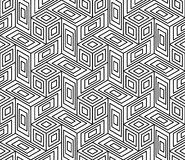 Vector modern seamless geometry pattern trippy, black and white abstract. Geometric background, pillow print, monochrome retro texture, hipster fashion design Royalty Free Stock Photo