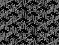 Vector modern seamless geometry pattern trippy, black and white abstract. Geometric background, pillow print, monochrome retro texture, hipster fashion design Royalty Free Stock Photography
