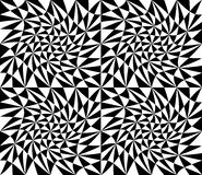 Vector modern seamless geometry pattern trippy, black and white Royalty Free Stock Image