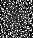Vector modern seamless geometry pattern trippy, black and white abstract Stock Photo