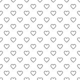 Vector modern seamless geometry pattern valentine, black and white abstract Royalty Free Stock Photo