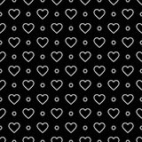 Vector modern seamless geometry pattern valentine, black and white abstract Royalty Free Stock Photos