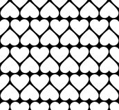 Vector modern seamless geometry pattern valentine, black and white abstract Royalty Free Stock Image