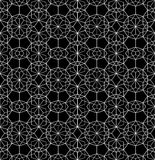 Vector modern seamless geometry pattern web, black and white Stock Photography