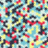 Vector modern seamless geometry tessellation pattern, abstract g Stock Photography