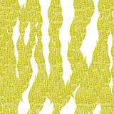 Vector modern seamless leaves coneptual pattern Royalty Free Stock Photo