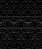 Vector modern seamless pattern sacred geometry Royalty Free Stock Images