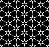 Vector modern seamless sacred geometry pattern, black and white abstract Royalty Free Stock Photos