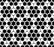 Vector modern seamless sacred geometry pattern, black and white abstract Stock Photography