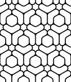 Vector modern seamless sacred geometry pattern, black and white abstract Stock Photos