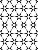 Vector modern seamless sacred geometry pattern, black and white abstract Stock Photo