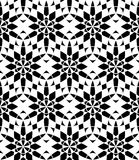 Vector modern seamless sacred geometry pattern , black and white abstract Stock Photography