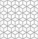Vector modern seamless sacred geometry pattern, black and white abstract Royalty Free Stock Image