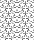 Vector modern seamless sacred geometry pattern, black and white abstract Stock Image