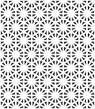 Vector modern seamless sacred geometry pattern, black and white abstract geometric background Royalty Free Stock Photography