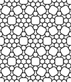 Vector modern seamless sacred geometry pattern circles, black and white abstract Stock Photography