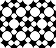 Vector modern seamless sacred geometry pattern circles, black and white abstract Royalty Free Stock Image