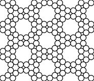 Vector modern seamless sacred geometry pattern circles, black and white abstract Stock Image