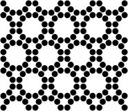 Vector modern seamless sacred geometry pattern circles, black and white abstract Royalty Free Stock Images