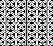Vector modern seamless sacred geometry pattern 3d, black and white abstract. Geometric background, pillow print, monochrome retro texture, hipster fashion Royalty Free Stock Photography