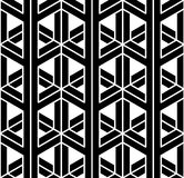 Vector modern seamless sacred geometry pattern 3d, black and white abstract. Geometric background, pillow print, monochrome retro texture, hipster fashion Stock Photography