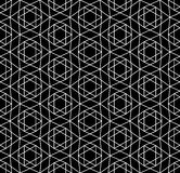 Vector modern seamless sacred geometry pattern david star, black and white abstract Stock Images